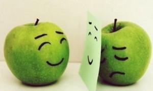 smutne jabłko